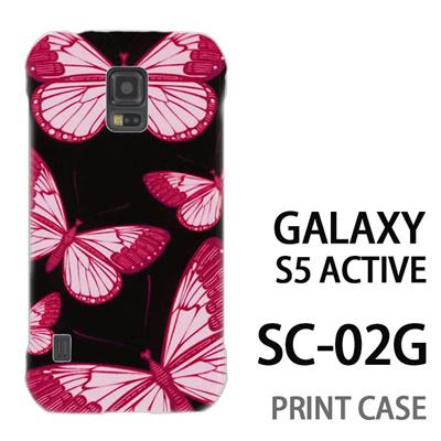 GALAXY S5 Active SC-02G 用『1003 蝶乱舞 黒』特殊印刷ケース【 galaxy s5 active SC-02G sc02g SC02G galaxys5 ギャラクシー ギャラクシーs5 アクティブ docomo ケース プリント カバー スマホケース スマホカバー】の画像
