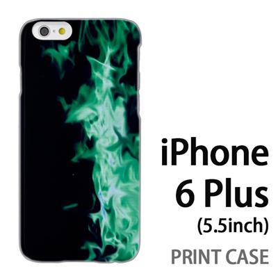iPhone6 Plus (5.5インチ) 用『No4 緑煙』特殊印刷ケース【 iphone6 plus iphone アイフォン アイフォン6 プラス au docomo softbank Apple ケース プリント カバー スマホケース スマホカバー 】の画像