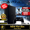 New PS4 Slim 500GB / 1 TB (1 Year + 3 Months Additional Local Warranty).Star War Battlefront worth $69.90 Included! Best Rate!Local Set Local Warranty!Utilize Your Coupons Now!