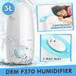 ★Anti-haze★Ready Stock in SG★Bear/DEM Humidifier/Best Brand And Quality/0 Radiation