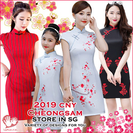 SG-STORE❤2019 New❤2-16Y❤CNY CheongSam / Qipao / Racial harmony / Traditional Erthnic clothing