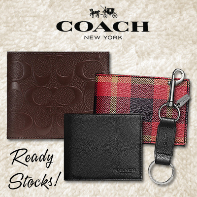 coach mens wallet outlet 59os  READY STOCK IN SG