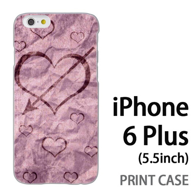 iPhone6 Plus (5.5インチ) 用『No4 和紙ハート矢』特殊印刷ケース【 iphone6 plus iphone アイフォン アイフォン6 プラス au docomo softbank Apple ケース プリント カバー スマホケース スマホカバー 】の画像