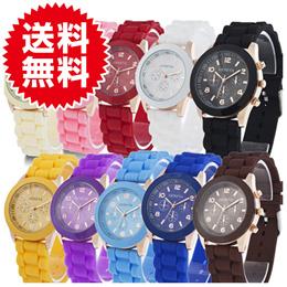 シリコン ウォッチ 13colors 全13色 ポップカラーウォッチ 腕時計 レディースウォッチ