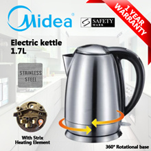 ★FREE SHIPPING★Electric Kettle 1.7L (Sliver) / With Strix Heating Element / 1 Year Warranty