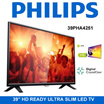 Philips 39 Inch HD LED TV 39PHA4251 /  Digital Crystal Clear / HDMI input with Easylink / HD Ready LED TV / Export Set / One Year Warranty