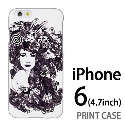 iPhone6 (4.7インチ) 用『0713 幻想的な女性』特殊印刷ケース【 iphone6 iphone アイフォン アイフォン6 au docomo softbank Apple ケース プリント カバー スマホケース スマホカバー 】の画像