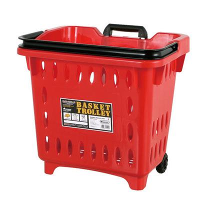 ダルトン収納ボックスバスケットトローリーBASKETTROLLEYREDS359-49RD