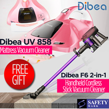 🏆【1 Day Deal 】 Dibea F6  / UV858 Handheld Vacuum Cleaner★ Singapore Safety Mark. More deals inside.
