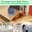 Transparent PVC Mat Soft Tampered Glass Tempered Mat for Table / Floor Waterproof Protector Mat