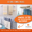 Towel Rack / SQ Series / shelf shelves storage organiser organizer suction kitchen bathroom