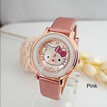 ⭐️Latest Design⭐️ Women Rhinestone PU Leather Quicksand Quartz Watch