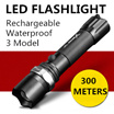 Rechargeable TouchLight Flashlight  Waterproof American Extreme Brightness CREE LED Torch  Outdoor Portable lights Bike Bicycle Cycling electric scooter Mounted Flashlight Touch Light Holder