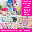Bamboo Charcoal Cloth Diapers / Swim Diapers / Training Pants / Wet Bags/ Bamboo Nappy Liner