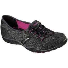 スケッチャーズ(SKECHERS) BREATHE-EASY - SAVE-THE-DAY BKPK SKJ-23010 B 【トレーニングシューズ ウォーキング レディース ウィメンズ 運動靴】