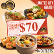 [AOne Claypot House] AONE Cash Voucher Worth $70. Special Promo. Grab now! Available at all 14 outlets.