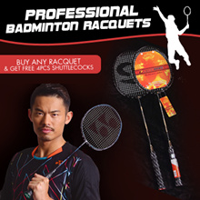 [Free Gift]China badminton player LinDan competition use professional badminton racquets/shuttlecock