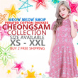 [Fashion Cheongsam]/New Arrivals/Cheongsam dress/XS-XXL /PLUS SIZES/PREMIUM COLLECTION/ COTTON PRINTED DRESS/ DINNER/ PARTY/ WEDDING /OFFICE DRESS/ WORK