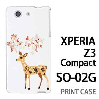 XPERIA Z3 Compact SO-02G 用『0624 幻想的な鹿』特殊印刷ケース【 xperia z3 compact so-02g so02g SO02G xperiaz3 エクスペリア エクスペリアz3 コンパクト docomo ケース プリント カバー スマホケース スマホカバー】の画像