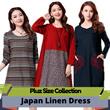 High Quality Japanese Linen Apparels Cotton Dress Japan Linen / Plus Size Dress/Pants/Shirt