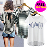 [one day SALE] ★FREE SHIPPING★ S/S 2015 New arrival UK Hollywood Style Premium losses fit T-shirt Collection / Layered T-shirt / Blouse / Trendy Shirts / One Piece / Long T-shirt / plus size / Short S
