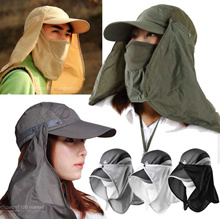 ★Korea Hit ★face sun shade summer fishing block UV Protection cap attached hat clothes outdoors