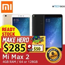 Xiaomi Mi Max 2 64GB/128GB| GOLD BLACK | 6.4inch Display / GLOBAL ROM / 6 MONTHS WARRANTY FOC