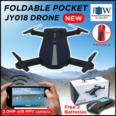 JY018 GLOBAL Drone Foldable Mini RC Selfie Quadcopter WiFi FPV 720P HD G-sensor Drones Deals for only S$100 instead of S$0