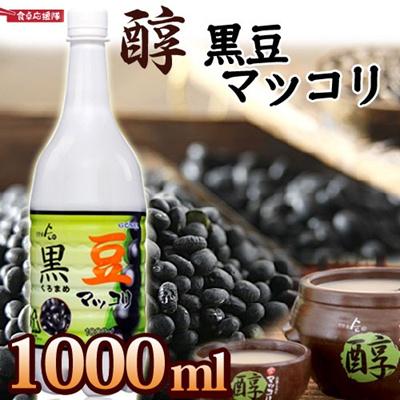 まろやかな味わい!【醇 黒豆マッコリ 1本 1000ml】韓国酒/韓国お酒/マッコリ/韓国マッコリの画像