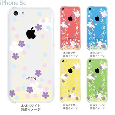 【iPhone5c】【iPhone5cケース】【iPhone5cカバー】【ケース】【カバー】【スマホケース】【クリアケース】【フラワー】【桜】 09-ip5c-flo0003の画像