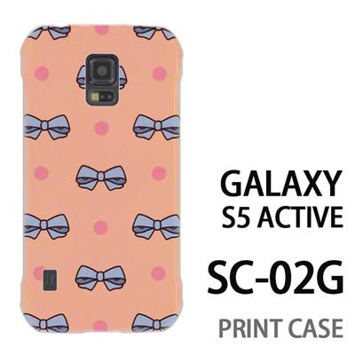GALAXY S5 Active SC-02G 用『1103 リボンドット ピンク』特殊印刷ケース【 galaxy s5 active SC-02G sc02g SC02G galaxys5 ギャラクシー ギャラクシーs5 アクティブ docomo ケース プリント カバー スマホケース スマホカバー】の画像