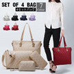 PROMO▶Set of 4+@ Package PU Leather Bags for Women◀GBB GBC-4 different sizes for all occasions(Shoulder Bag+Crossbody Bag+Clutch Bag+Name Card Bag or wallet)