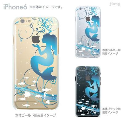 iPhone6 4.7 inch iphone ハードケース Clear Arts ケース カバー スマホケース クリアケース かわいい おしゃれ 着せ替え イラスト 人魚姫 08-ip6-ca0100cの画像