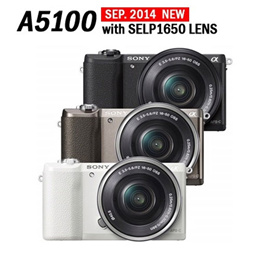 [$18Coupon/Make $471] Sony Alpha A5100/ 24.3MP Mirrorless Digital Camera Interchangeable Lens Camera