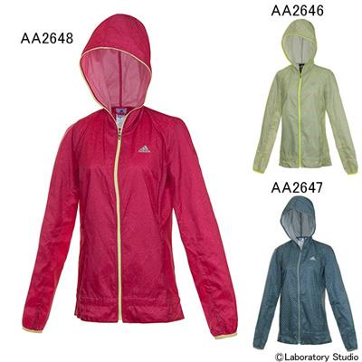 アディダス (adidas) レディース 蘭グラフィックジャケット AAC87 [分類:ランニング ウインドジャケット (レディース)] 送料無料の画像