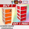 ◘◘[BUY 1 GET 1]◘◘[542-4]TOYOGO - PLASTIC A4 STATIONARY DRAWER