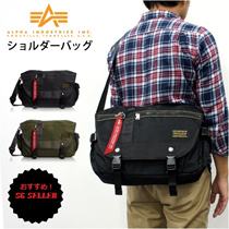 【SG Stock】Authentic ALPHA INDUSTRIES アルファインダストリーズ Japanese Edition Flight Messenger Sling Biker Laptop Bag