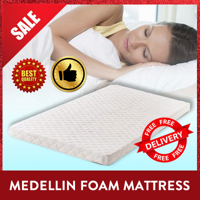 SINGLE SUPER SINGLE QUEEN MATTRESS | Medellin Series | Bedframe option included| Foam Spring | Deals for only S$159 instead of S$0