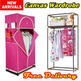 ★ MEGA SALE ★ Canvas Wardrobe Organizer/Non-Woven Wardrobe/High Capacity/Stylish Clothes Wardrobe/Storage Organizer / Canvas Clothes Wardrobe / Clothes Cupboard