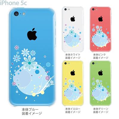 【iPhone5c】【iPhone5cケース】【iPhone5cカバー】【ケース】【カバー】【スマホケース】【クリアケース】【フラワー】【アクアフラワー】 09-ip5c-flo0007の画像