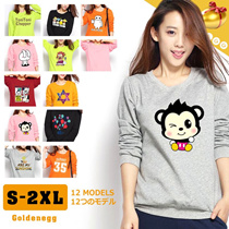 ☆(All Flat Price) ◆F/W Cute Character Long Sleeve T-Shirts for Women◆Simple Casual Daily Look/ Travel Clothing/ S-2XL-12 Designs