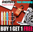 🔥HOT SALE🔥REMAX Lightning Micro USB Type C Cable iPad Air Mini iPhone 7 6 6S Plus 5 5S SE iPod Samsung Galaxy Note 7 5 4 S5 S6 S7 Xiaomi Redmi Note 3 Sony Asus Fast Charge Adapter OTG Charger LED