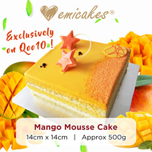 [Emicakes] Back by Popular Demand! Qoo10 Exclusive - Mango Mousse Cake [approx 500g]