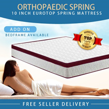 DELIVER BY CNY Medellin® [Bonnell Spring] 10inch EuroTop Spring Mattress | Single Queen Super King