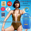 Shiseido Perfect UV Protector Wet Force SPF 50+ - . Protection Gets stronger with water and perspiration. DEVY UV - DEFY WATER - DEFY CONVENTION