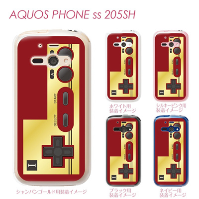 【AQUOS PHONE ss 205SH】【205sh】【Soft Bank】【カバー】【ケース】【スマホケース】【クリアケース】【クリアーアーツ】【懐かしのコントローラー】 08-205sh-ca0076の画像