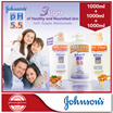 FREE SHIPPING!! [1+1+1]【JOHNSONS pH5.5】Nourishing Body Wash/ 2-in-1 x 3bottles (1000ml+1000ml+1000ml)