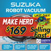 [INTRODUCTORY OFFER!] ★ PROSCENIC SUZUKA ROBOT VACUUM w WATER TANK 5-in-1★ SG AGENT WARRANTY★