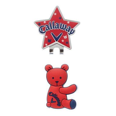 キャロウェイ (Callaway) Bear Marker 15JM(ベアーマーカー)レッド 5915137 [分類:ゴルフ マーカー]の画像