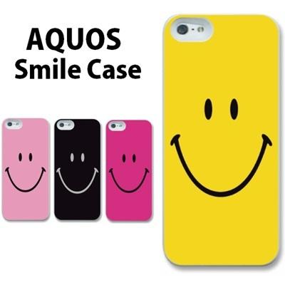 特殊印刷/AQUOS PHONE(SHV31)(SHV32)(302SH)(303SH)(304SH)(SHL22)(SHL24)(SHL25)(SHL23)(SHL21)(スマイリー)CCC-015【ニコちゃん スマイル スマイリー 人気 ケース カバー ハードケースの画像
